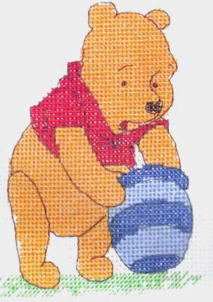 Disney Winnie The Pooh Mini Cross Stitch Kit
